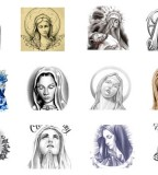 Various Virgin Mary Tattoos Designs & Symbols - Religious Tattoos