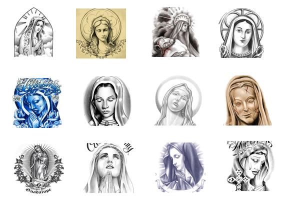 Virgin mary designs something