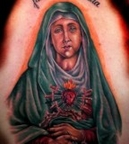 Religious Tattoo Art of the Virgin Mary - Christian Tattoos