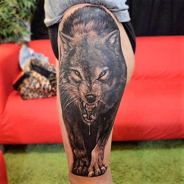 viscious-wolf-leg-tattoo