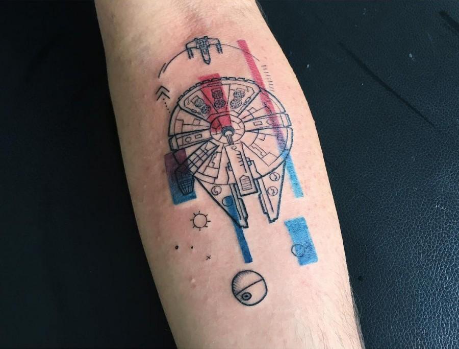 watercolor-starwars-tattoo-by-barisyesilbas