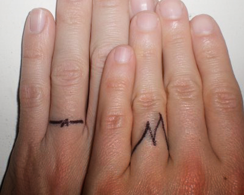 Best Art Wedding Ring Finger Tattoo Design