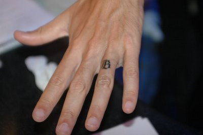 Simple Wedding Band Tattoo Design on Ring Finger - TattooMagz