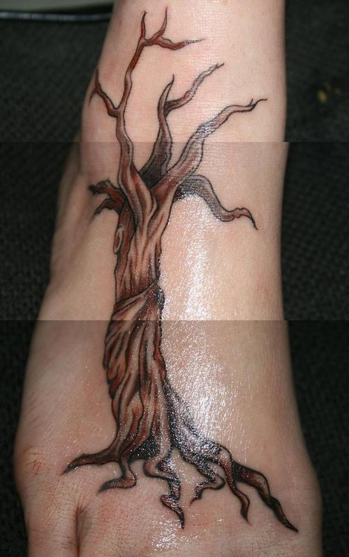 Gorgeous Weeping Willow Tattoo Picture