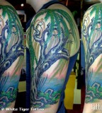 Half Sleeve Weeping Willow Tattoo Designs