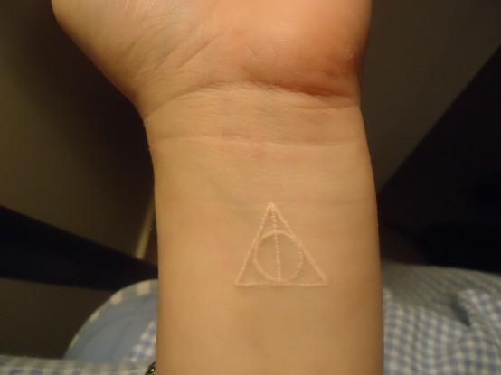 Healing Symbols Tattoos Symbol White Ink Tattoo on