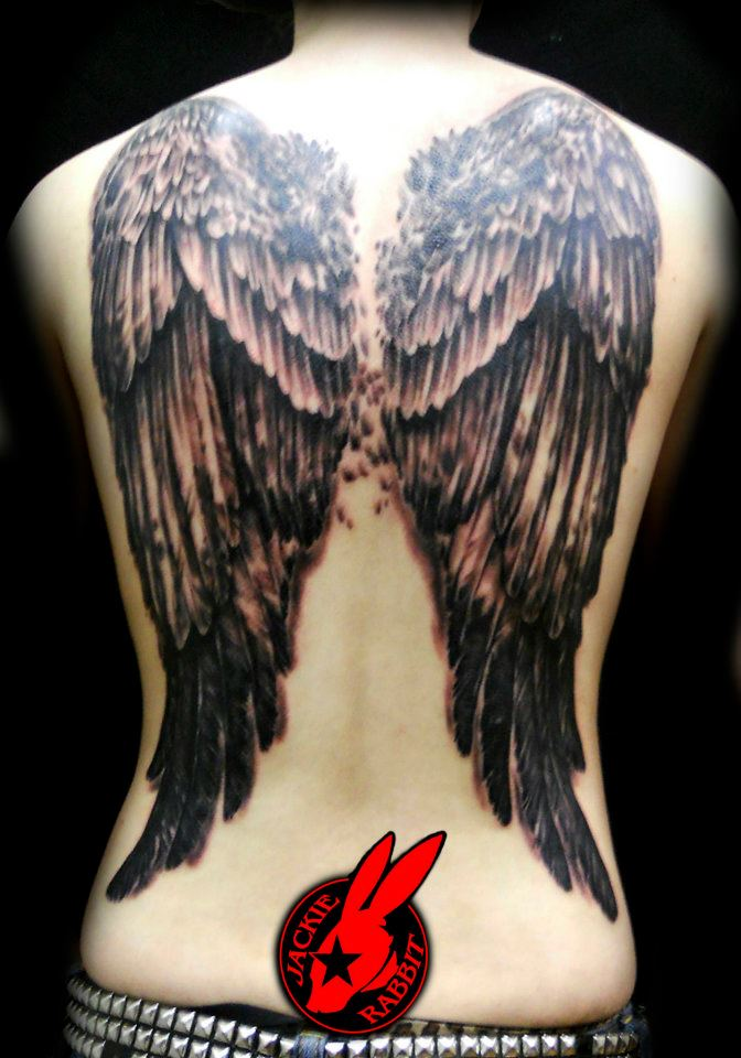 Cool Angel Wings Full Back Tattoo For Women By Jackierabbit12 Nsfw