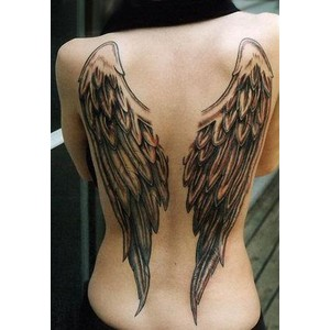 cb40550e74be7 Full-Back Angel Wings Tattoo Design Ideas for Women - Angel Tattoos ...