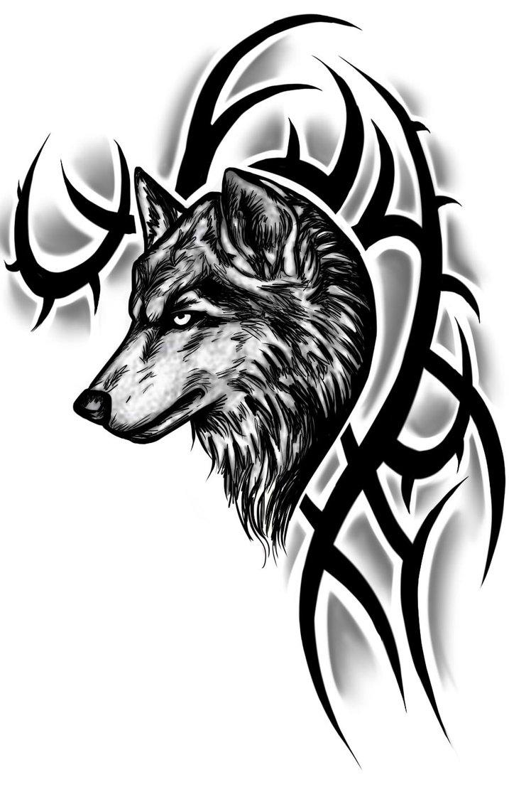 Tribal Mountain Tattoo Tribal Wolf Tattoo Design