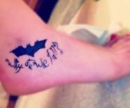 Adorable black batman tattoos
