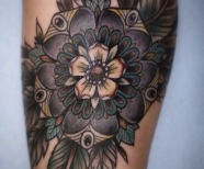 Alice Carrier floral tattoos