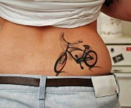 Bicycles tattoos on backs