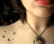 Birds tattoos on shoulders