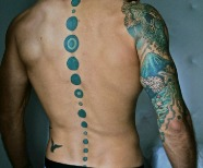 Blue men's tattoos