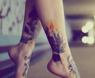 Cool colorful tattoos