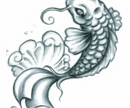 Coy Fish Tattoo Designs