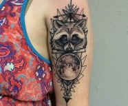 Creative raccoon tattoos