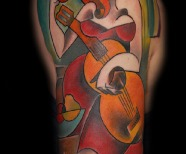 Cubism tattoos by Bugs