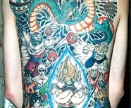 Dragon ball theme tattoos