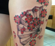 Fan tattoo