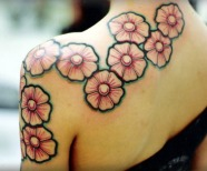 Flowers tattoo design