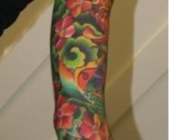 Flowers tattoos on hand