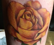 Gorgeous yellow rose tattoos
