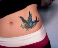 hip tattoo for girl