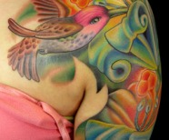 Hummingbird Tattoos For Girls Design