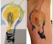 Lightbulb tattoos
