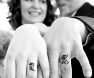 Lovely style couple tattoos