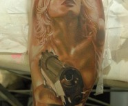 Photorealistic tattoos design