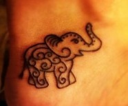 Pretty black elephants tattoos