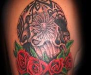Red skull tattoos