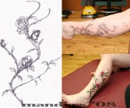 Rose Vine Tattoo Designs