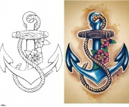 Sailor Jerry Anchor Tattoo