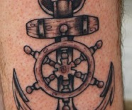 Simple anchors tattoos