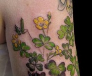Simple flowers tattoos