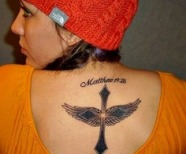 Simple wings tattoo