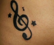 Tattoo Of Music Notes