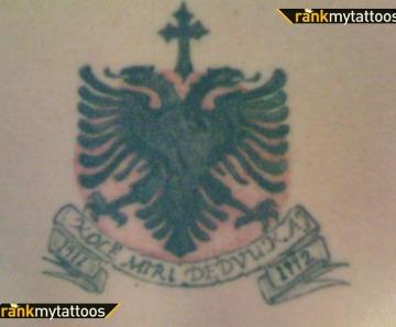 Albanian Eagle Tattoo