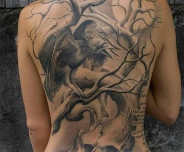 Amazing raven tattoos
