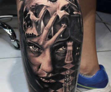 Awesome chess tattoos