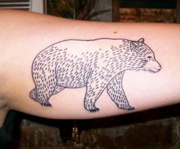 Bears tattoos on arms