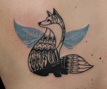 Blue tattoos