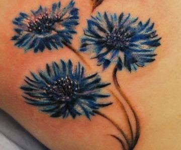 Cornflowers tattoos