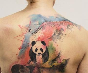Creative panda bear tattoos
