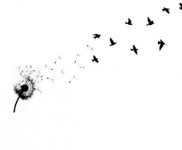 Dandelion Bird Tattoo