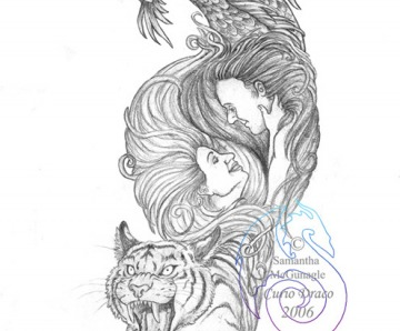 Dragon And Tiger Tattoo