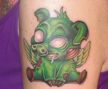 Funny pigs tattoos